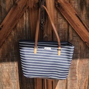 Nautica Navy Blue Beach Bag Tote New With Tags